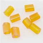 Transparente Glas Rocailles, Glas-Rocailles, Rohr, transluzent, gelb, 2x3mm, Bohrung:ca. 1mm, verkauft von Tasche