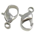 Eisernen Karabinerverschluss, Eisen, Tropfen, plattiert, keine, 11.50x7x3mm, Bohrung:ca. 1.5mm, ca. 100PCs/Tasche, verkauft von Tasche