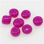 Glänzende Glas-Rocailles, Rondell, Fuchsia, 2x3mm, Bohrung:ca. 1mm, verkauft von Tasche