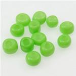 Opake Glas Rocailles, Glas-Rocailles, Rondell, grün, 2x3mm, Bohrung:ca. 1mm, verkauft von Tasche