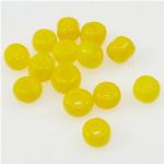 Glänzende Glas-Rocailles, Rondell, gelb, 2x3mm, Bohrung:ca. 1mm, verkauft von Tasche
