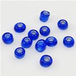 Silbereinzug Glas Rocailles, Glas-Rocailles, Rondell, tiefblau, 2x3mm, Bohrung:ca. 1mm, verkauft von Tasche
