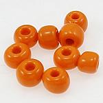 Opake Glas Rocailles, Glas-Rocailles, Rondell, orange, 3x3.60mm, Bohrung:ca. 1mm, verkauft von Tasche