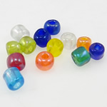 Gemischte Glas Rocailles, Glas-Rocailles, rund, gemischte Farben, 3x3.60mm, Bohrung:ca. 1mm, verkauft von Tasche