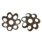 Eisen Perlenkappen, Blume, antike Bronzefarbe plattiert, frei von Nickel, Blei & Kadmium, 8x1.50mm, Bohrung:ca. 1.5mm, ca. 2000PCs/Tasche, verkauft von Tasche