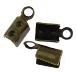 Eisen Endkappe, antike Bronzefarbe plattiert, frei von Nickel, Blei & Kadmium, 7x3.50x3mm, Bohrung:ca. 1.3mm, ca. 1000PCs/Tasche, verkauft von Tasche