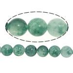 Marmor Naturperlen, gefärbter Marmor, rund, grün, 8mm, Bohrung:ca. 1mm, Länge:ca. 16 ZollInch, 5SträngeStrang/Menge, verkauft von Menge
