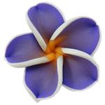 Polymer Ton Perlen , Blume, violett, 30x9mm, Bohrung:ca. 1mm, 100PCs/Tasche, verkauft von Tasche
