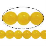 Natürliche gelbe Achat Perlen, rund, 6mm, Bohrung:ca. 0.3mm, Länge:ca. 16 ZollInch, 10SträngeStrang/Menge, verkauft von Menge