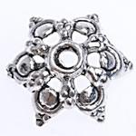 Zinklegierung Perlenkappe, Blume, antik silberfarben plattiert, frei von Blei & Kadmium, 15x4mm, Bohrung:ca. 1.8mm, ca. 1666PCs/Tasche, verkauft von Tasche