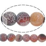 Natürliche Effloresce Achat Perlen, Auswitterung Achat, rund, verschiedene Größen vorhanden, Bohrung:ca. 1-1.2mm, verkauft per ca. 15 ZollInch Strang
