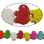 Türkis Perlen, Synthetische Türkis, Elephant, gemischte Farben, 21.50x16x5.50mm, Bohrung:ca. 1.5mm, ca. 27PCs/Strang, verkauft per ca. 15 ZollInch Strang