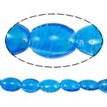 Plattierte Lampwork Perlen, oval, 25x17x10mm, Bohrung:ca. 2mm, 100PCs/Tasche, verkauft von Tasche