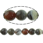 Natürliche Botswana Achat Perlen, rund, verschiedene Größen vorhanden, Bohrung:ca. 1-1.2mm, Länge:ca. 16 ZollInch, verkauft von Menge