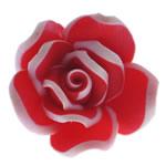 Polymer Ton Perlen , Blume, rot, 17.50x17x10mm, Bohrung:ca. 1.5mm, 100PCs/Tasche, verkauft von Tasche