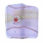 Goldfolie Lampwork Perlen, Quadrat, 16x16x6.50mm, Bohrung:ca. 2mm, 20PCs/Tasche, verkauft von Tasche