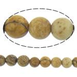 Bild Jaspis Perlen, rund, natürlich, Peddigrohr gelb, 4mm, Länge:ca. 16 ZollInch, 10SträngeStrang/Menge, ca. 101PCs/Strang, verkauft von Menge