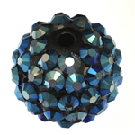 Harz Strass Perlen, Trommel, 14x16mm, Bohrung:ca. 2.5mm, 100PCs/Tasche, verkauft von Tasche