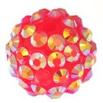 Harz Strass Perlen, Trommel, Rosa, 14x16mm, Bohrung:ca. 2.5mm, 100PCs/Tasche, verkauft von Tasche