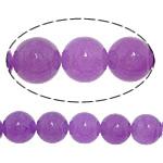Jade Perlen, weiße Jade, rund, glatt, violett, 10mm, Bohrung:ca. 1mm, Länge:ca. 15 ZollInch, 20SträngeStrang/Menge, ca. 37PCs/Strang, verkauft von Menge