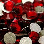 Kristall Eisen auf Nagelkopf, Dom, flache Rückseite & facettierte, Siam, Grade A, 3.8-4.0mm, 10Grosses/Tasche, 144PCs/brutto, verkauft von Tasche