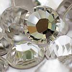 Kristall Eisen auf Nagelkopf, Dom, flache Rückseite & facettierte, Kristall, Grade A, 3.8-4.0mm, 10Grosses/Tasche, 144PCs/brutto, verkauft von Tasche