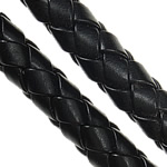 Lederband, PU Leder, gewebt, schwarz, 8mm, Länge:100 m, verkauft von Menge