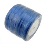 Satinband, tiefblau, 6mm, Länge:230 HofHof, 10PCs/Menge, verkauft von Menge