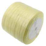 Satinband, gelb, 6mm, Länge:230 HofHof, 10PCs/Menge, verkauft von Menge