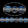 Opal Perlen, rund, facettierte, blau, 4-4.5mm, Bohrung:ca. 0.5mm, Länge:ca. 15.5 ZollInch, 5SträngeStrang/Menge, ca. 104PCs/Strang, verkauft von Menge