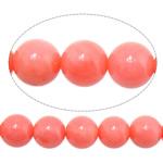Natürliche Korallen Perlen, rund, Rosa, 7mm, Bohrung:ca. 1mm, Länge:16 ZollInch, 10SträngeStrang/Menge, verkauft von Menge