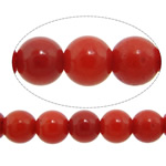 Natürliche Korallen Perlen, rund, rot, 2.50mm, Bohrung:ca. 0.8mm, Länge:ca. 16.2 ZollInch, 10SträngeStrang/Menge, ca. 164PCs/Strang, verkauft von Menge