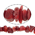 Natürliche Korallen Perlen, Klumpen, rot, 8-13mm, Bohrung:ca. 0.5mm, Länge:33 ZollInch, 10SträngeStrang/Menge, verkauft von Menge