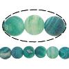 Natürliche Effloresce Achat Perlen, Auswitterung Achat, rund, 8mm, Bohrung:ca. 2mm, Länge:15 ZollInch, 10SträngeStrang/Menge, verkauft von Menge