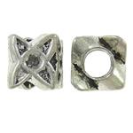 Zinklegierung Perlen Einstellung, Stern, antik silberfarben plattiert, frei von Nickel, Blei & Kadmium, 9x10x9mm, Bohrung:ca. 4.5mm, 10PCs/Tasche, verkauft von Tasche