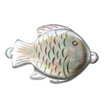 Muschel Schmuckverbinder, Schwarze Muschel, Fisch, geschnitzt, 1/1-Schleife, 23x36x7.20mm, Bohrung:ca. 1.2mm, verkauft von PC