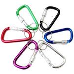 Aluminium Karabiner Schlüsselanhänger, Buchstabe, Spritzlackierung, gemischte Farben, 45x25mm, ca. 100PCs/Menge, verkauft von Menge