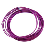 Aluminium Draht, Elektrophorese, violett, 1.5mm, Länge:ca. 50 m, 10PCs/Tasche, verkauft von Tasche