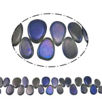 Tropfen Kristallperlen, Kristall, bunte Farbe plattiert, 17-25mm, Bohrung:ca. 1.5mm, ca. 38PCs/Strang, verkauft per ca. 15.3 ZollInch Strang