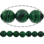 Malachit Perlen, rund, Streifen, 6mm, Bohrung:ca. 1mm, Länge:15.5 ZollInch, 10SträngeStrang/Menge, 67PCs/Strang, verkauft von Menge