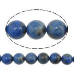 Lapislazuli Perlen, natürlicher Lapislazuli, rund, säurenblau, 6mm, Bohrung:ca. 1mm, Länge:ca. 16 ZollInch, 5SträngeStrang/Menge, ca. 67PCs/Strang, verkauft von Menge