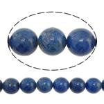 Lapislazuli Perlen, natürlicher Lapislazuli, rund, blau, 8mm, Bohrung:ca. 1mm, Länge:ca. 16 ZollInch, 3SträngeStrang/Menge, ca. 50PCs/Strang, verkauft von Menge