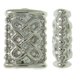 Zinklegierung flache Perlen, Rechteck, Platinfarbe platiniert, frei von Nickel, Blei & Kadmium, 5x7x2.50mm, Bohrung:ca. 1mm, ca. 2500PCs/kg, verkauft von kg