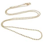 Eisen Halsketten, Zinklegierung Karabinerverschluss, mit Verlängerungskettchen von 7cm, goldfarben plattiert, frei von Nickel, Blei & Kadmium, 2.4mm, Länge:ca. 30 ZollInch, 20SträngeStrang/Tasche, verkauft von Tasche
