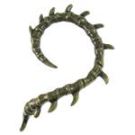 Moderne Ohr Manschette, Zinklegierung, Edelstahl Stecker, antike Bronzefarbe plattiert, frei von Nickel, Blei & Kadmium, 44x53x3mm, 12x13x6mm, 12PCs/Tasche, verkauft von Tasche