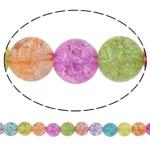 Knistern Quarz Perle, rund, 6mm, Bohrung:ca. 1mm, Länge:15.7 ZollInch, 10SträngeStrang/Menge, 66PCs/Strang, verkauft von Menge