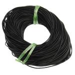 Rindsleder Schnur, Kuhhaut, schwarz, frei von Nickel, Blei & Kadmium, 2mm, Länge:ca. 100 HofHof, verkauft von Tasche