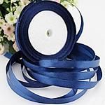 Satinband, tiefblau, 25mm, 10PCs/Menge, verkauft von Menge