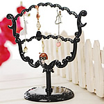 Kunststoff Ohrringständer, PVC Kunststoff, schwarz, 164x175mm, 10PCs/Menge, verkauft von Menge