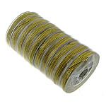 Metallische Garn, chemisches Glasfaserkabel, mit Kunststoffspule, nichtelastisch, goldfarben, 1mm, Länge:10 m, 10PCs/Menge, verkauft von Menge